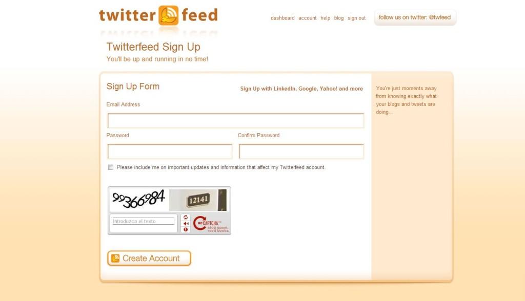 configurar twitterfeed paso 2