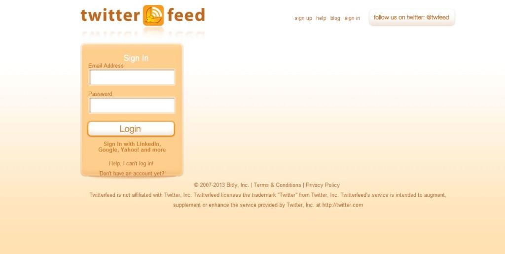 configurar twitterfeed paso 3