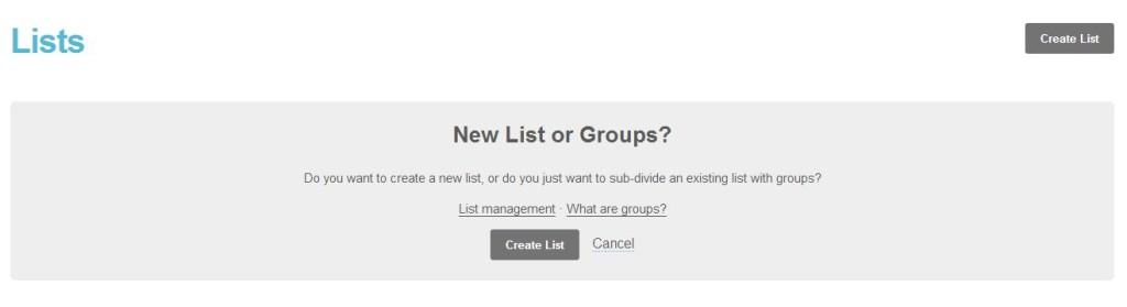 crear lista de correo