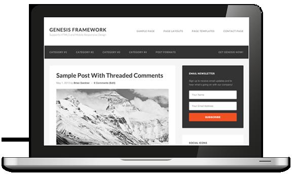screenshot del genesis framework