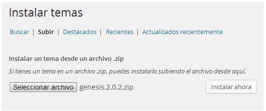 instalar genesis framework