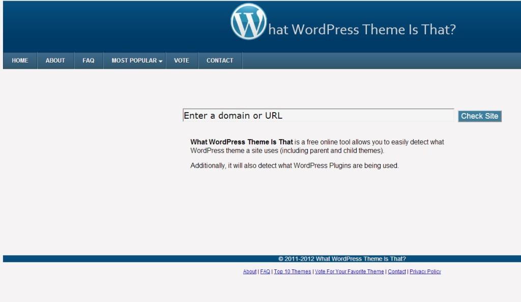 saber el tema y plugins de wordpress