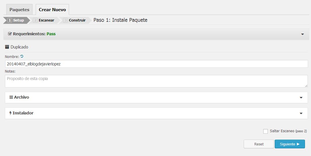 crear paquete plugin duplicator
