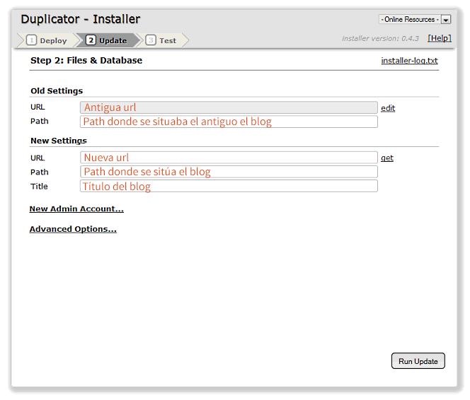 wordpress duplicator 2 de 3
